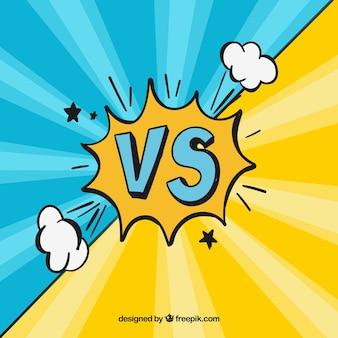 Komiks z symbolem strony wyciągnąć versus