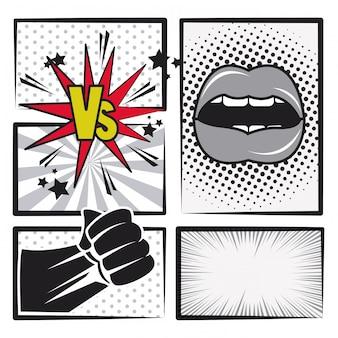 Komiksowa historia pop-artu w czerni i bieli