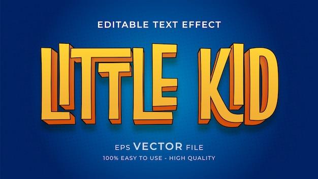 Komiksowe dziecko edytowalny tekst efekt koncepcji