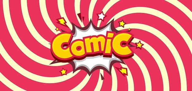 Komiksowe promieniowe tło z gwiazdą i śrubą