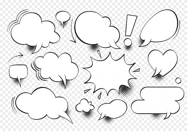 Komiksowy dialog pusta chmura, tekst spacji