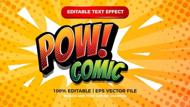 Komiksowy edytowalny efekt tekstowy z półtonami