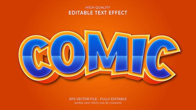 Komiksowy efekt tekstowy, edytowalny efekt stylu tekstu kreskówki 3d.
