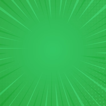 Komiksowy styl tło, tekstura wydruku półtonów. ilustracja wektorowa na zielonym tle