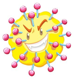 Komórka wirusa z twarzą potwora