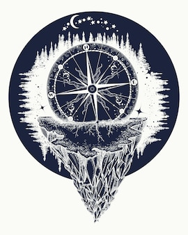 Kompas i góry