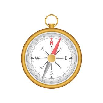 Kompas magnetyczny ilustracja na białym tle