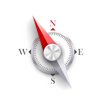Kompas na białym tle sztuki. ilustracja wektorowa.