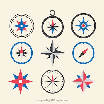 Kompas płaski mapa