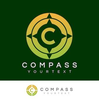 Kompas początkowy litera c projekt logo