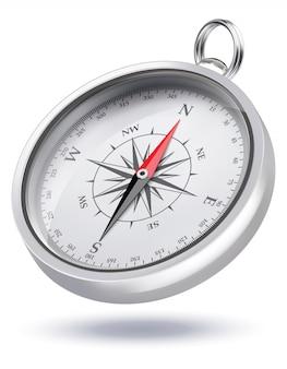Kompas. realistyczne ilustracji wektorowych 3d