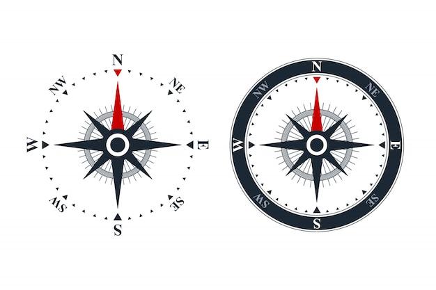 Kompas róży ikony