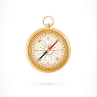 Kompas w złotej skrzynki ilustraci