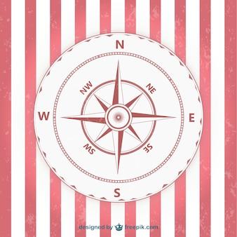 Kompas zabytkowe czerwony