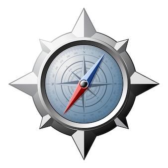 Kompas ze stali ze skalą