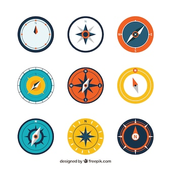 Kompasowe opakowanie dziewięciu