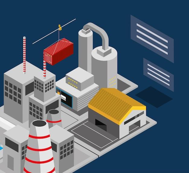 Kompleks przemysłowy budynków fabrycznych