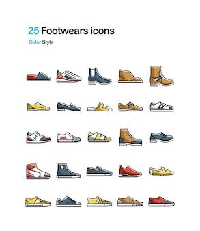 Komplet kolorów dla footwears