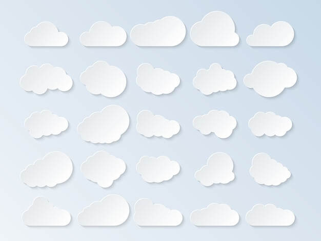 Komplet kreskówka chmury.
