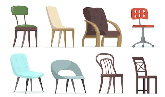 Komplet krzeseł i foteli