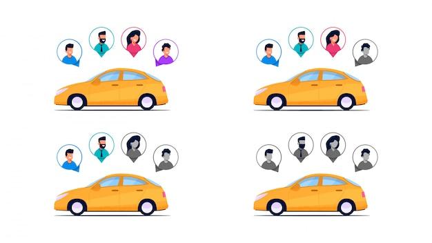Kompletność pasażerowie samochodów.
