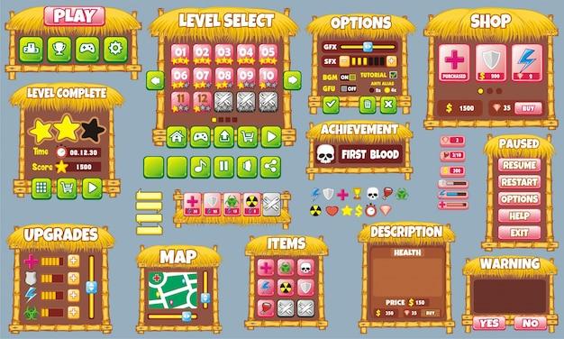 Kompletny zestaw graficzny interfejs użytkownika do tworzenia gier i aplikacji
