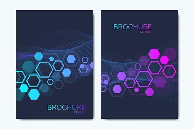 Kompozycja abstrakcyjna ze strukturą cząsteczki, kropki, linie. przepływ fal. nauka, medycyna, technologia tło.