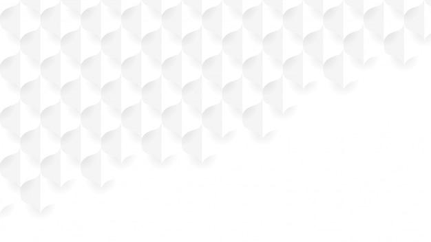 Kompozycja abstrakcyjnych kształtów. kolor biały i szary tło