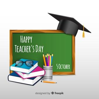 Kompozycja dnia dla nauczycieli z realistycznym wyglądem