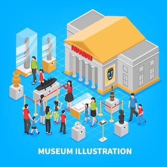 Kompozycja izometryczna muzeum