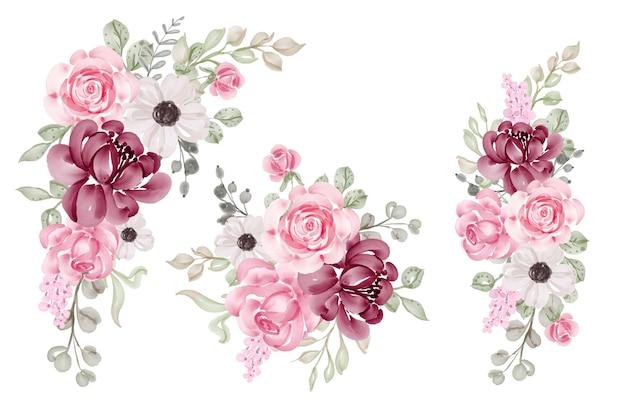Kompozycja kwiatowa i bukiet kwiatów róży