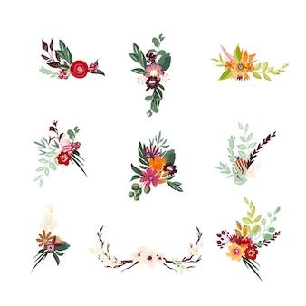 Kompozycja kwiatowa z abstrakcyjnymi kwiatami