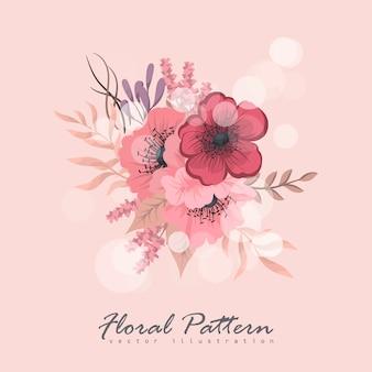 Kompozycja kwiatowa z kolorowych kwiatów.