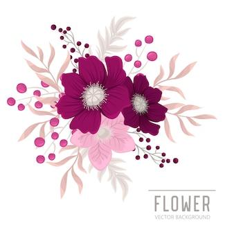 Kompozycja kwiatowa z kolorowym kwiatem.