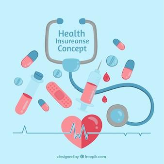 Kompozycja medyczna z ręcznie rysowanymi elementami