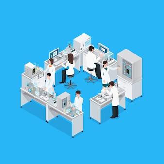 Kompozycja miejsca pracy science lab