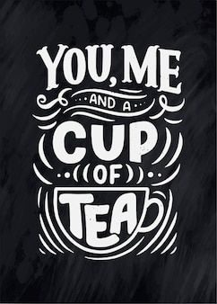 Kompozycja napisów ze szkicem do kawiarni, kawiarni lub wydruków.