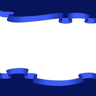 Kompozycja ramy z niebieskimi wstążkami