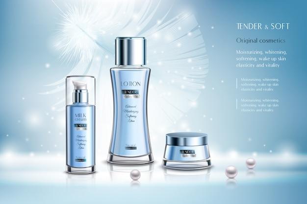 Kompozycja reklamowa produktów kosmetycznych