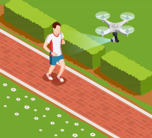 Kompozycja trenująca drona