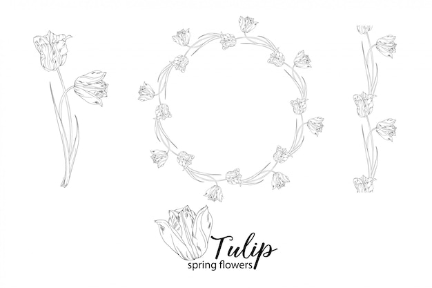 Kompozycje kwiatowe z kwiatami tulipanów