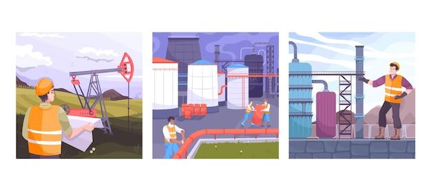 Kompozycje przemysłu naftowego z inżynierią naftową
