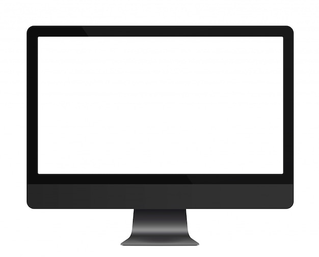 Komputer realistyczny ciemnoszary monitor