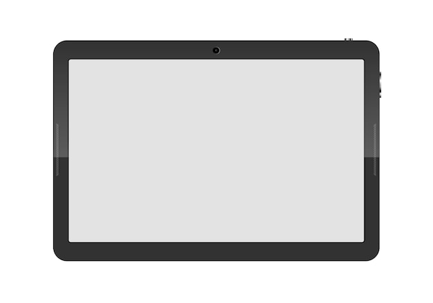 Komputer typu tablet na białym tle. ilustracja.