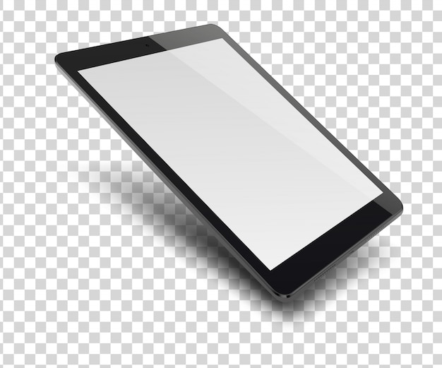 Komputer typu tablet z pustym ekranem.