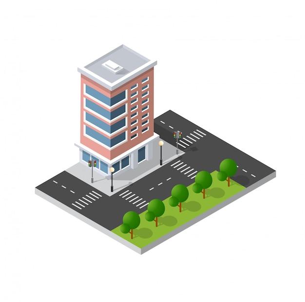 Komputerowa ikona internetu izometryczny 3d krajobraz