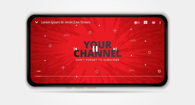 Komputerowy odtwarzacz wideo youtube