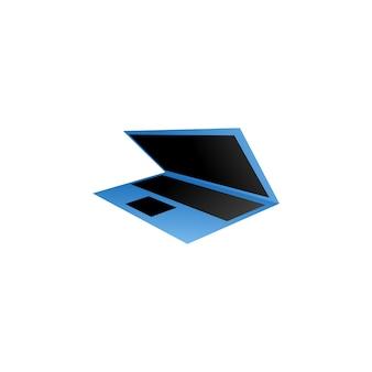 Komputerowy szablon laptopa