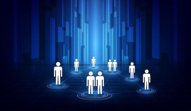 Komunikacja w mediach społecznościowych połączenie z internetem