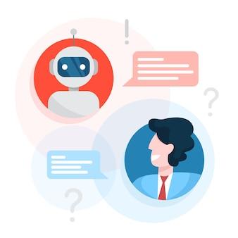 Komunikacja z koncepcją chatbota. obsługa klienta